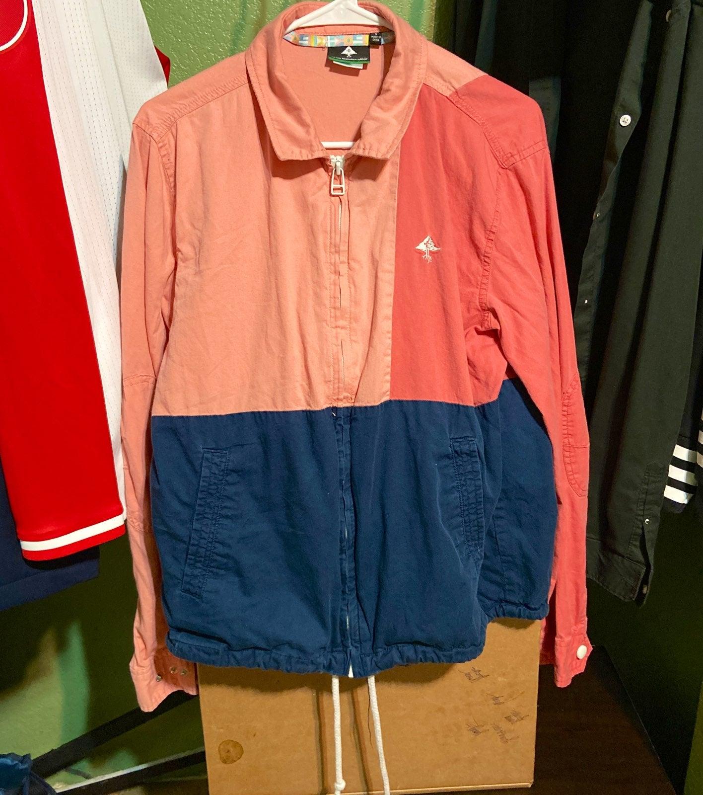 LRG Pink / Blue Mens Jacket