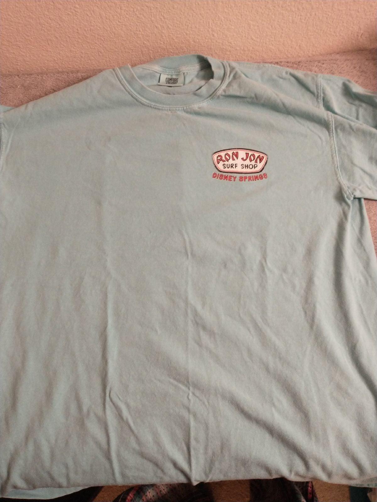 Ron Jon Disney Springs Teal shirt