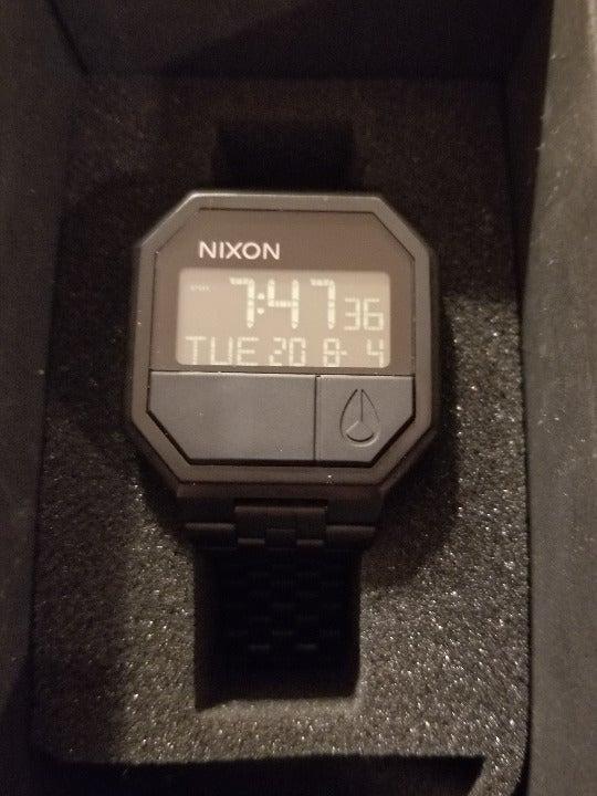 Nixon Two Button Digital Watch Black 46m