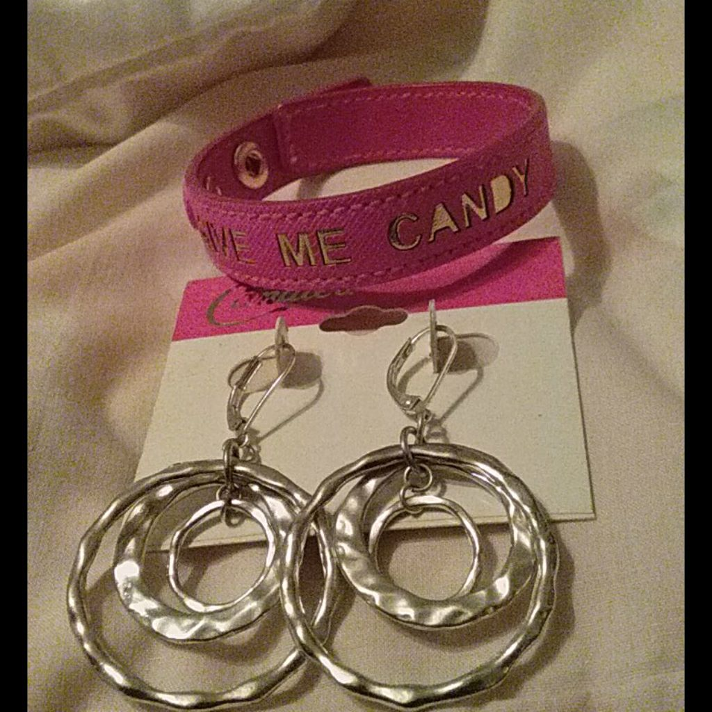 Candies earrings and wrist band