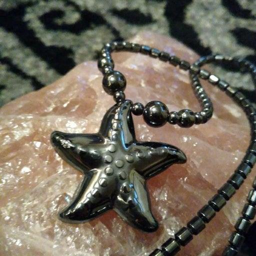 Magnetite Starfish Beaded Neckla