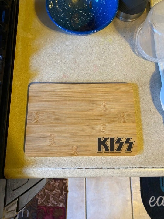 KISS Laser Engraved Cutting Board
