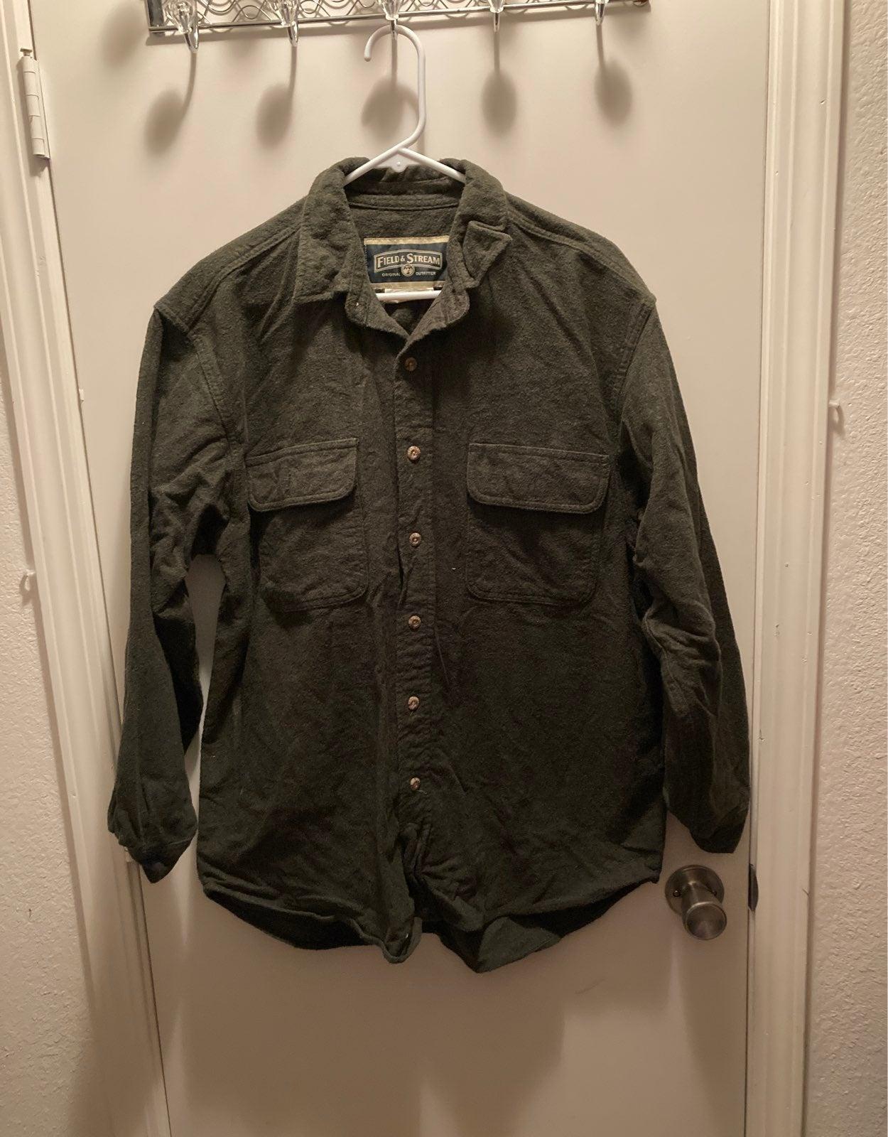 Green Fleece coat jacket large
