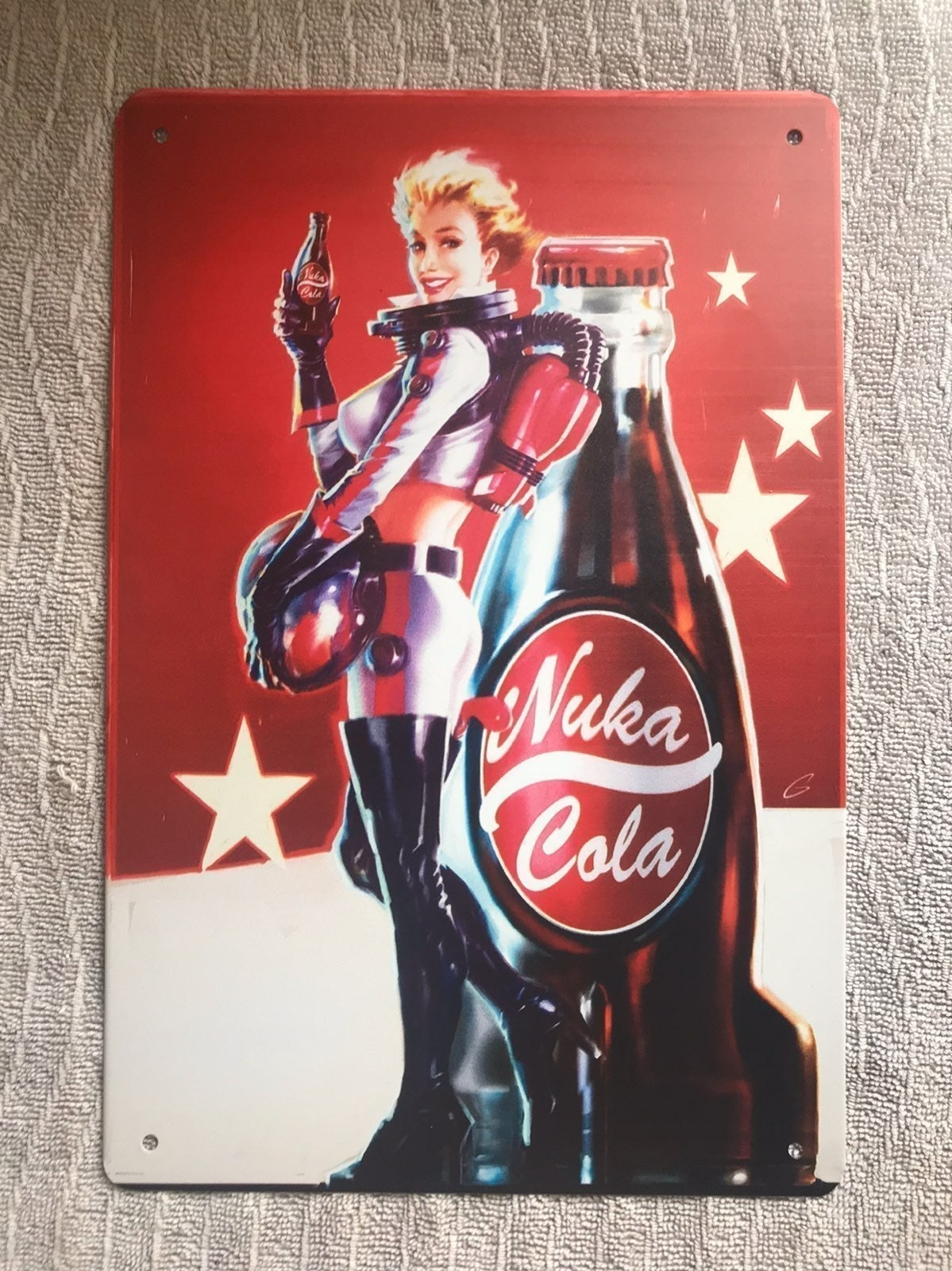 Fallout Nuka Girl Metal Wall Art