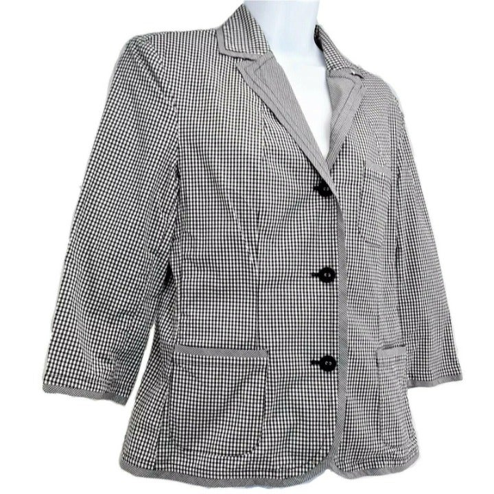 Lightweight Checked Poplin Blazer 12P