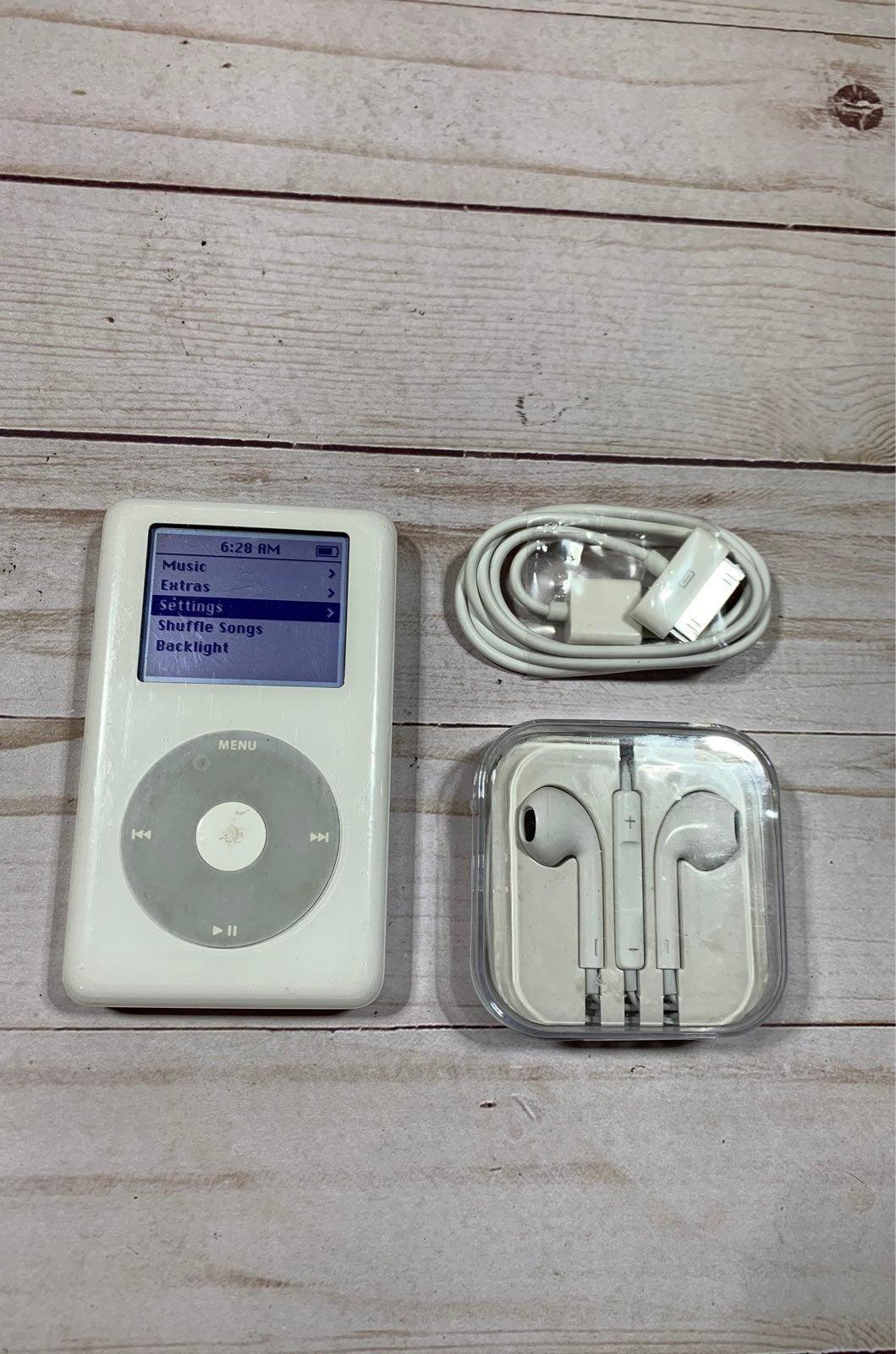 Ipod Classic 4th Gen White 20GB