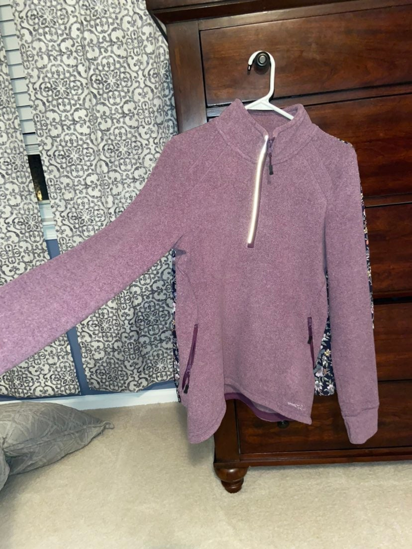 Eddie bauer purple fleece size medium
