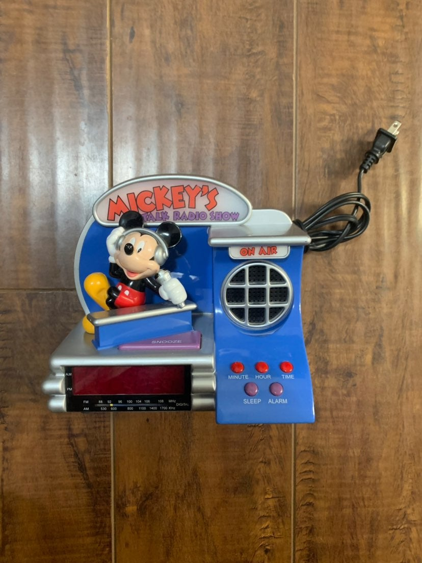 Mickey Mouse Radio Alarm Clock Vintage