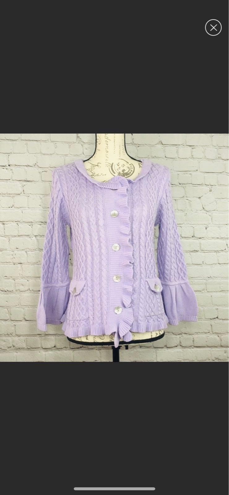 Vintage j. J Jill Purple Cardigan Sweate