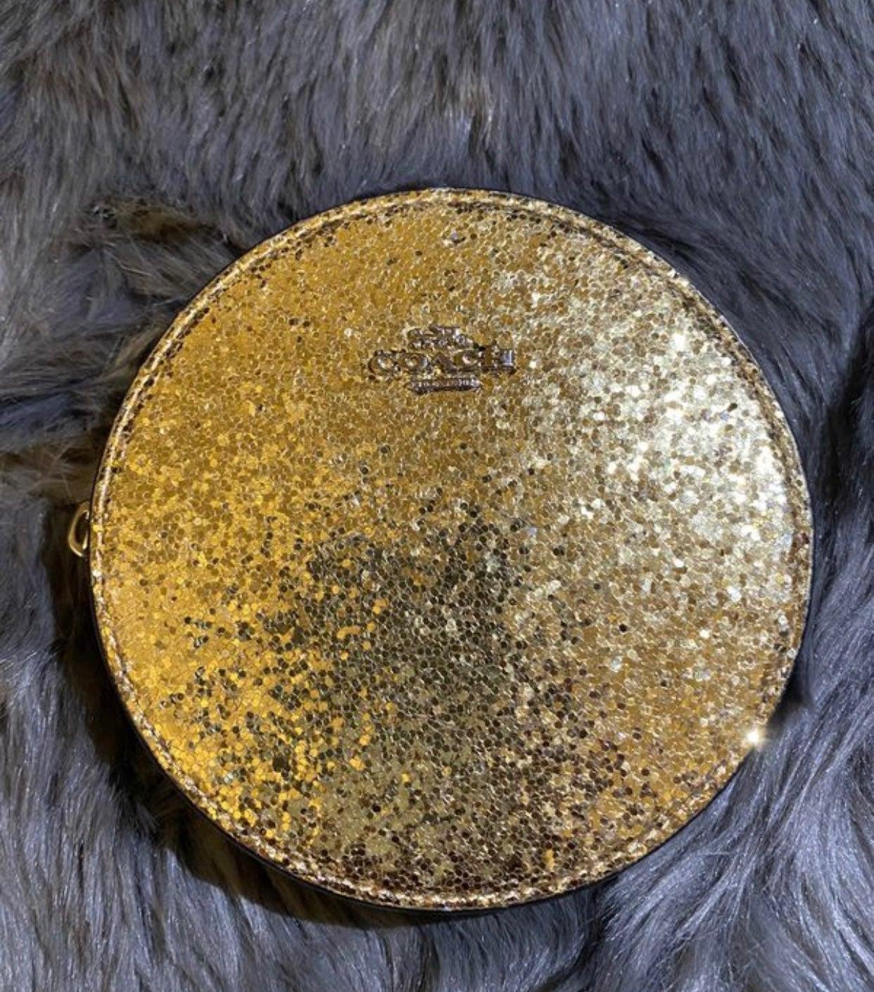 Coach Glitter Coin Pouch