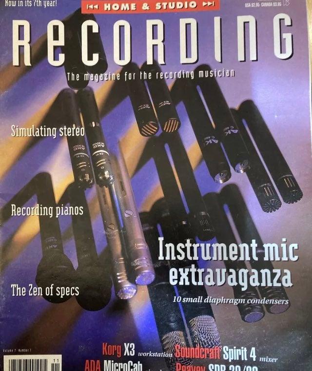 Vintage Nov 1993 Home & Studio Recording