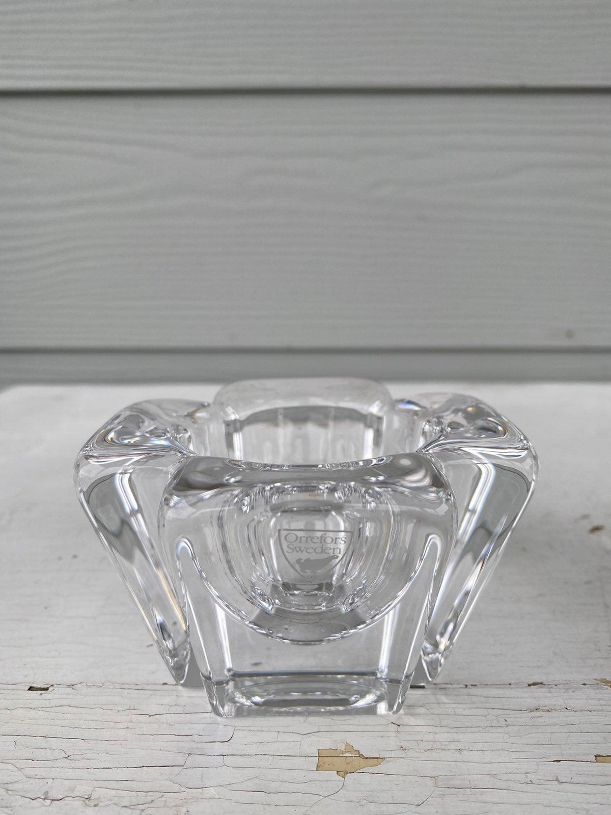 Orrefors Sweden Max crystal votive