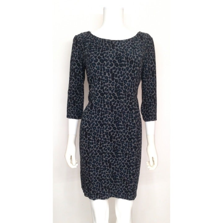 Talbots Animal Print Fitted Dress Sz 8