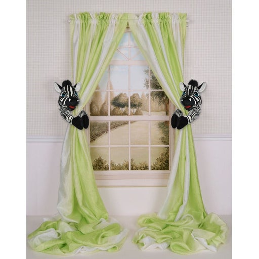 Zebra Nursery Curtain Tieback Holder Set