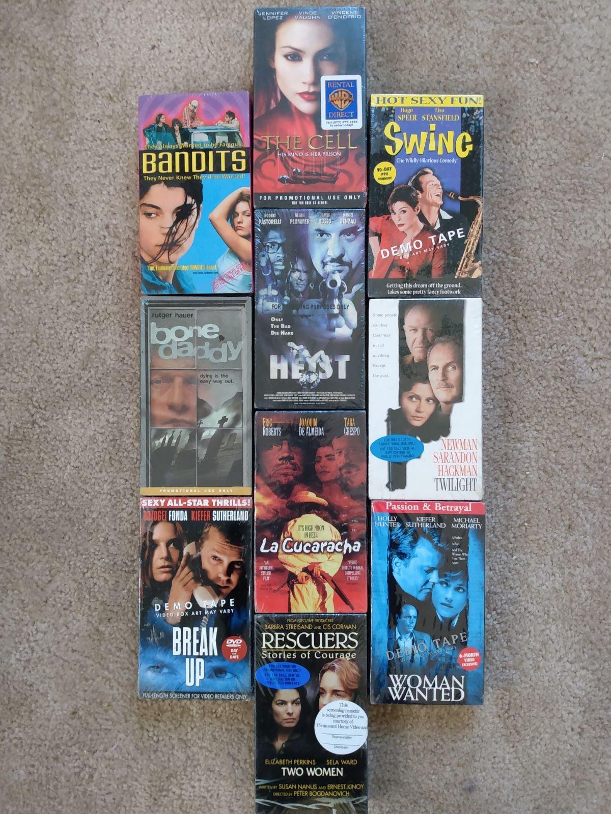 HUGE 10 SEALED NIP NEW SCREENER VHS SET