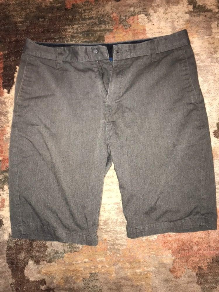 Gray volcom chino shorts