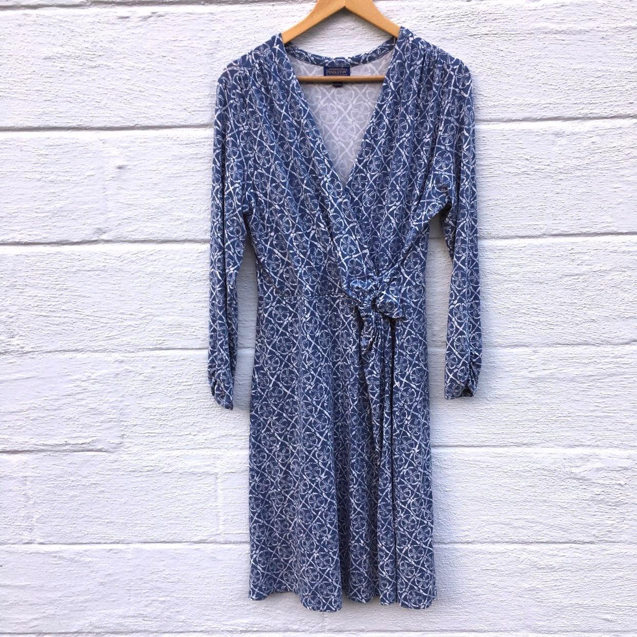 Pendleton Faux Wrap Midi Dress Large