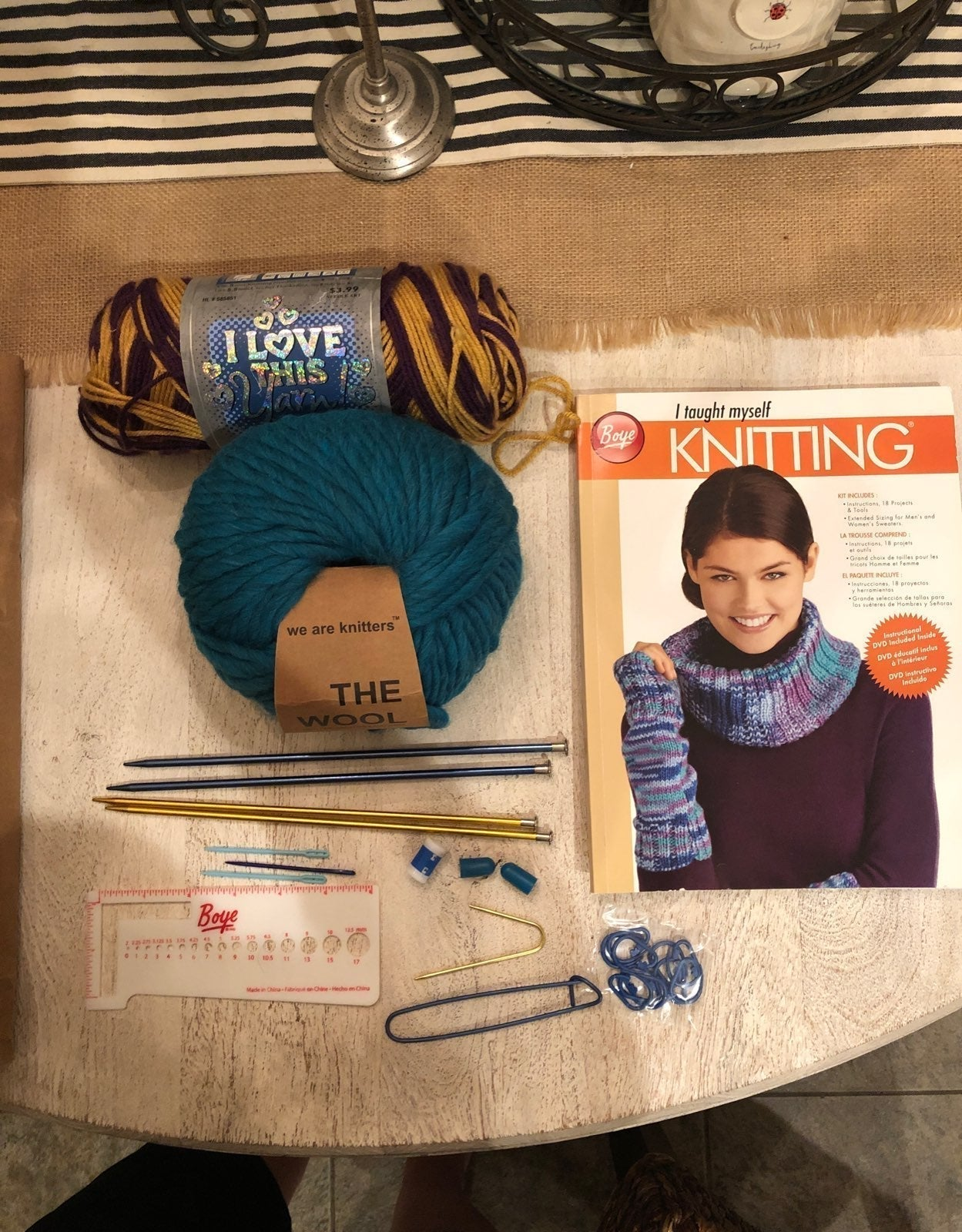 We are knitters beanie and braid kit+