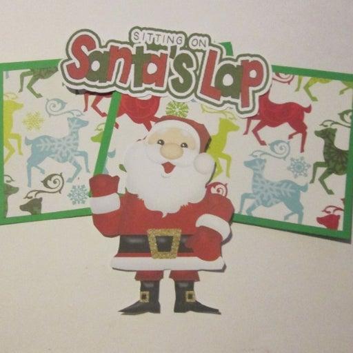 Sitting On Santa's Lap b - Scrapbook or Card Set