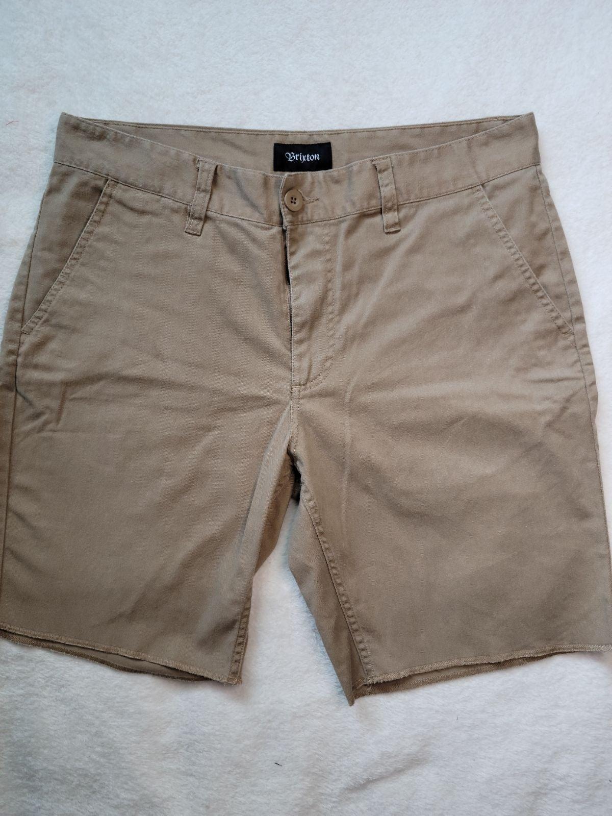 Brixton Mens Tan Shorts Size 34
