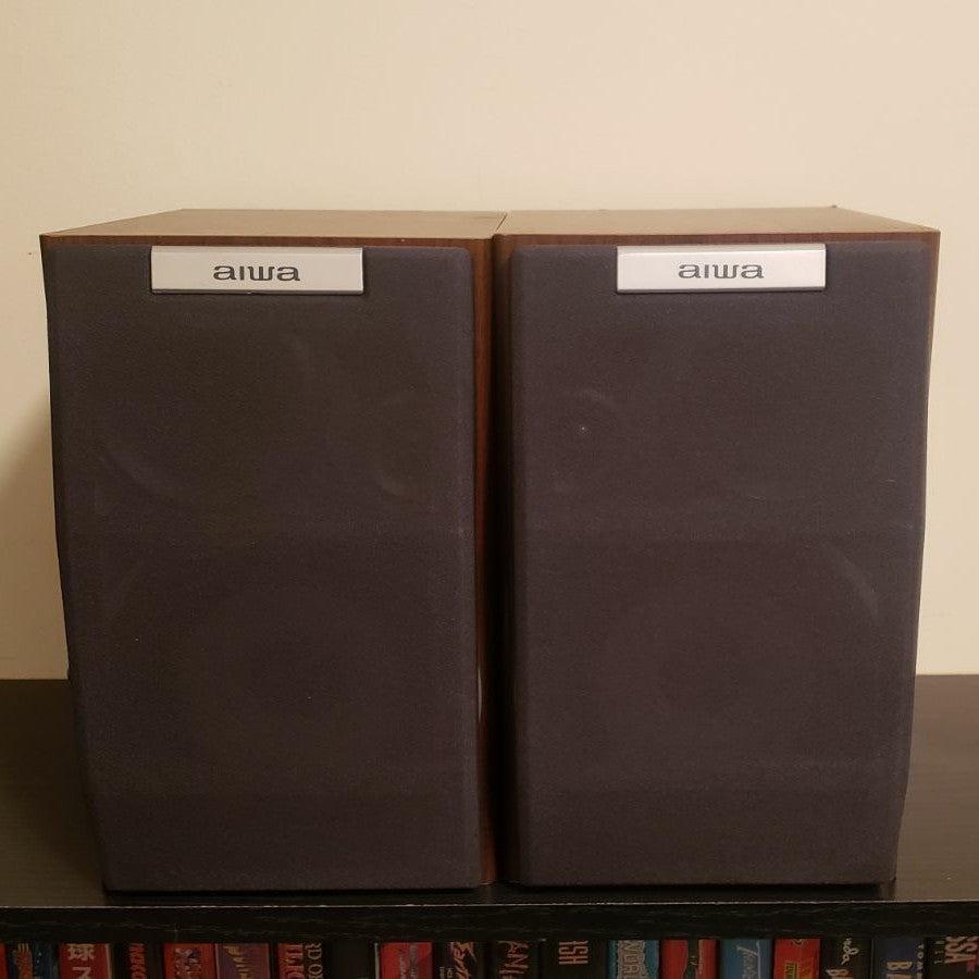 Aiwa SX-M200 Bookshelf Speakers Vintage
