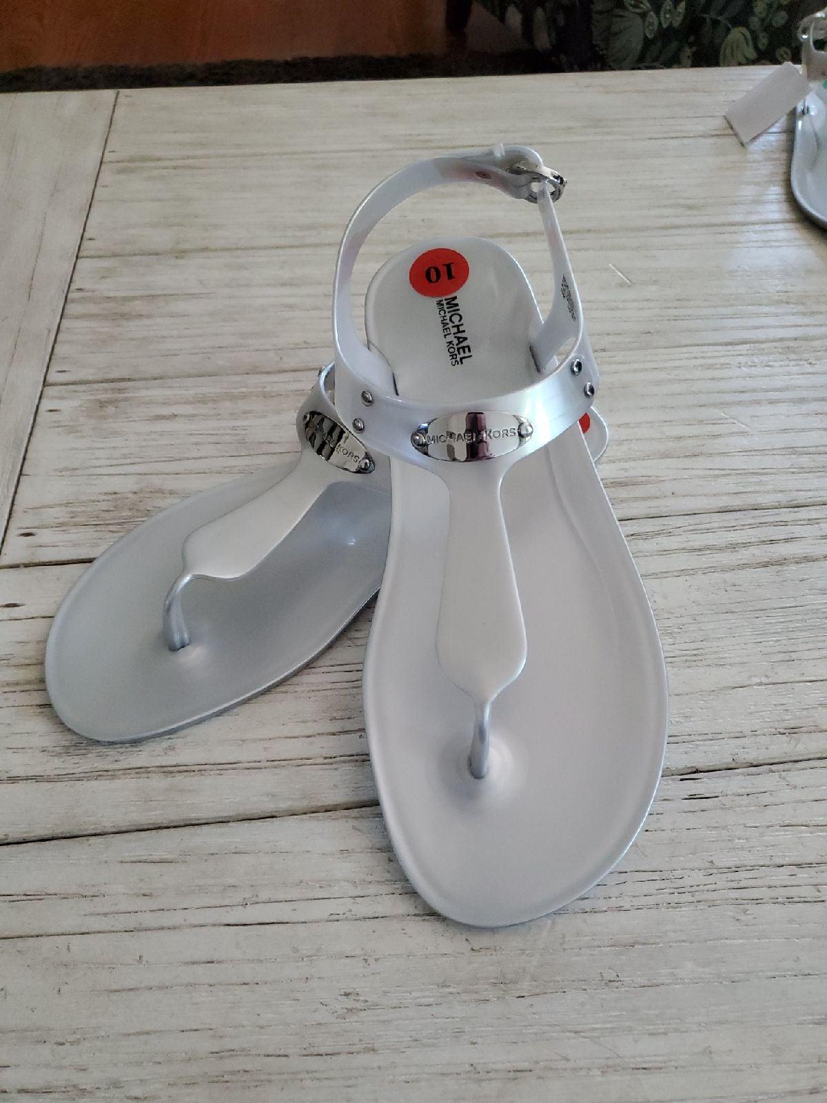 Michael Kors MK plate jelly sandals 10