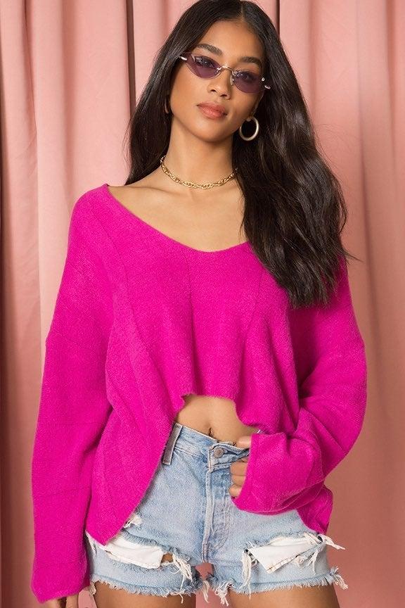 Superdown Dakota Sweater Sz S