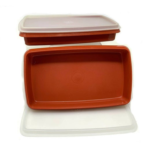 2 x Vtg Tupperware Paprika Containers