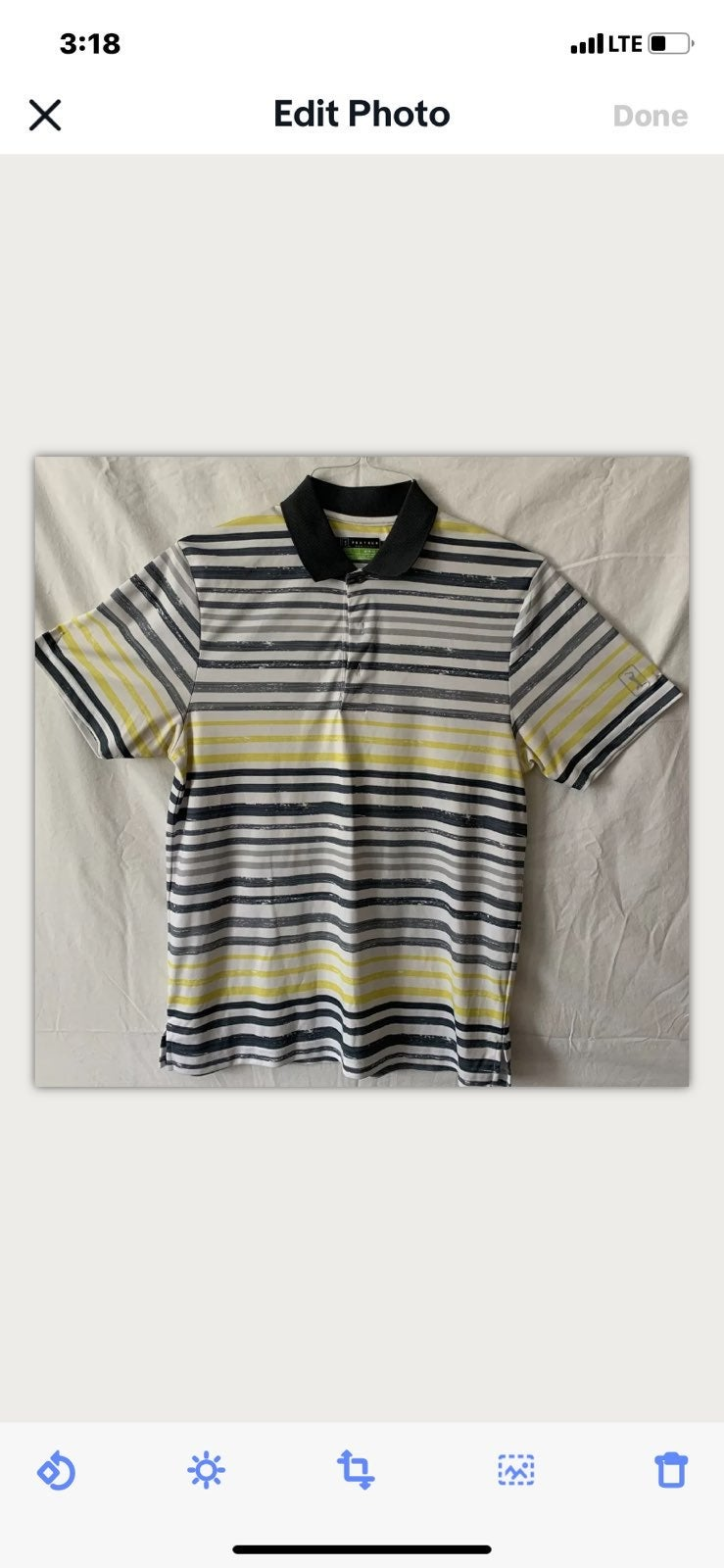 Polo Shirt-Men's medium-Short sleeve