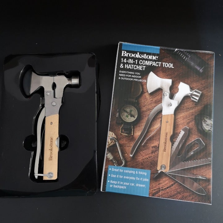 brookstone 14-in-1 compact tool  hatchet