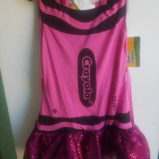 Girl's pink crayon costume
