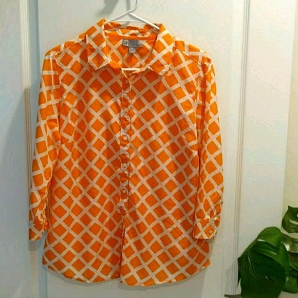 JCP Silk Blend Button Down Blouse
