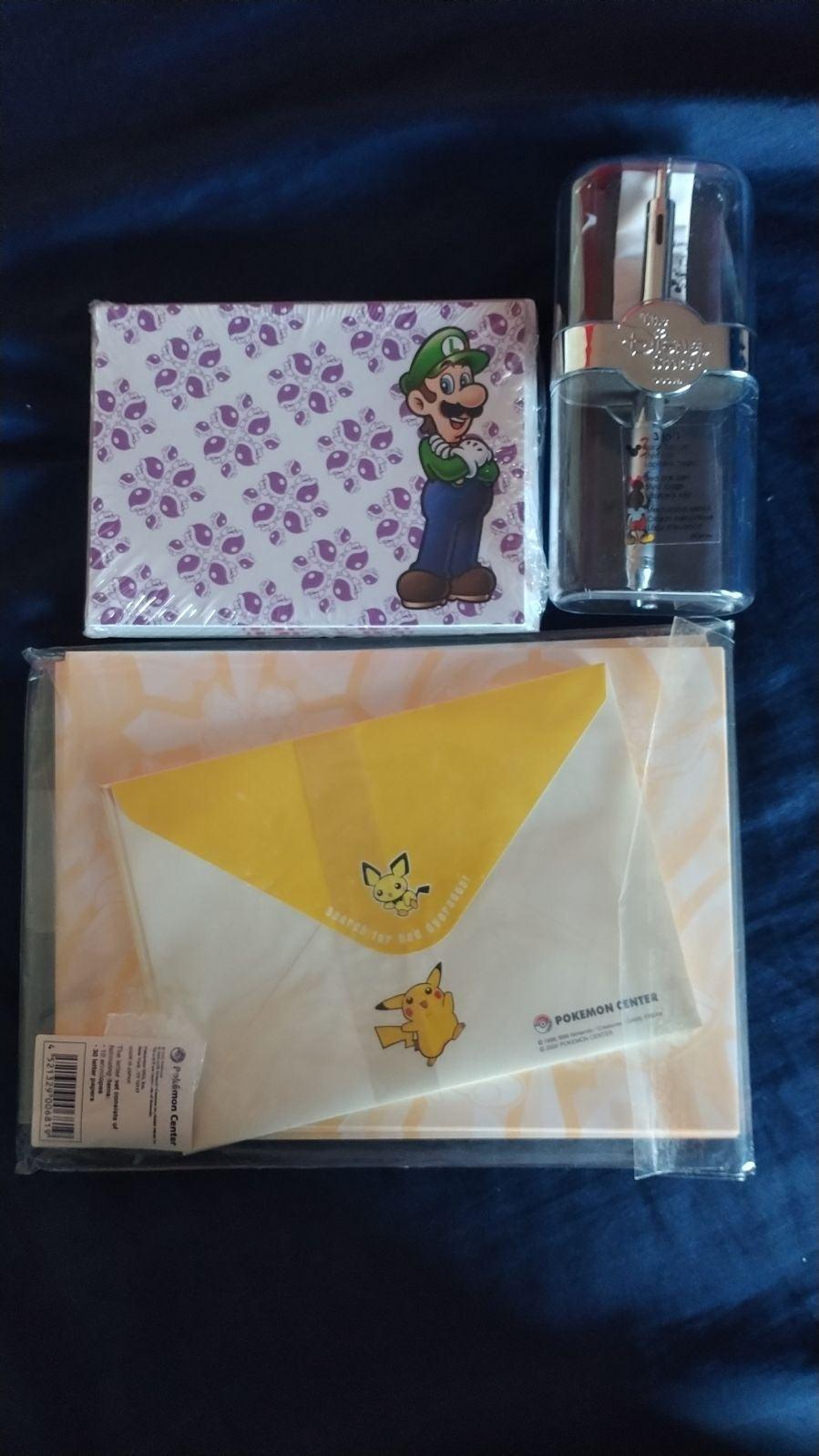 Nintendo mario Pokemon disney pen bundle