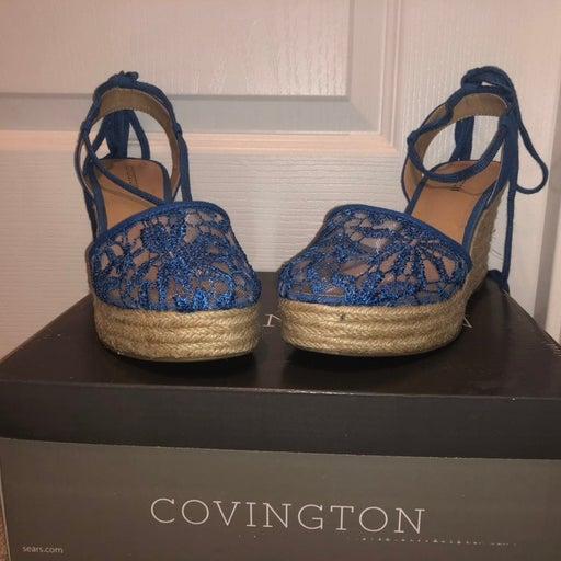 Covington Blue Wedges