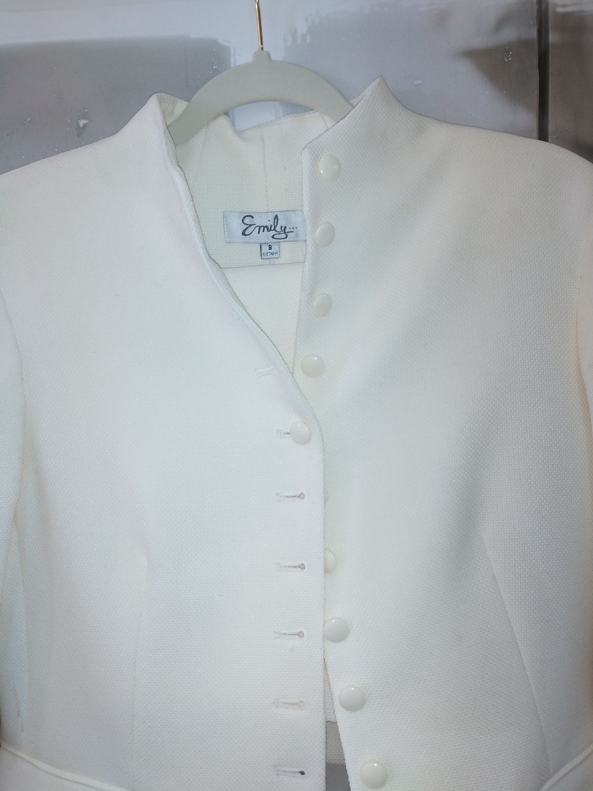 Emily Skirt Suit Sz. 8 NWT.  (Ivory Colo