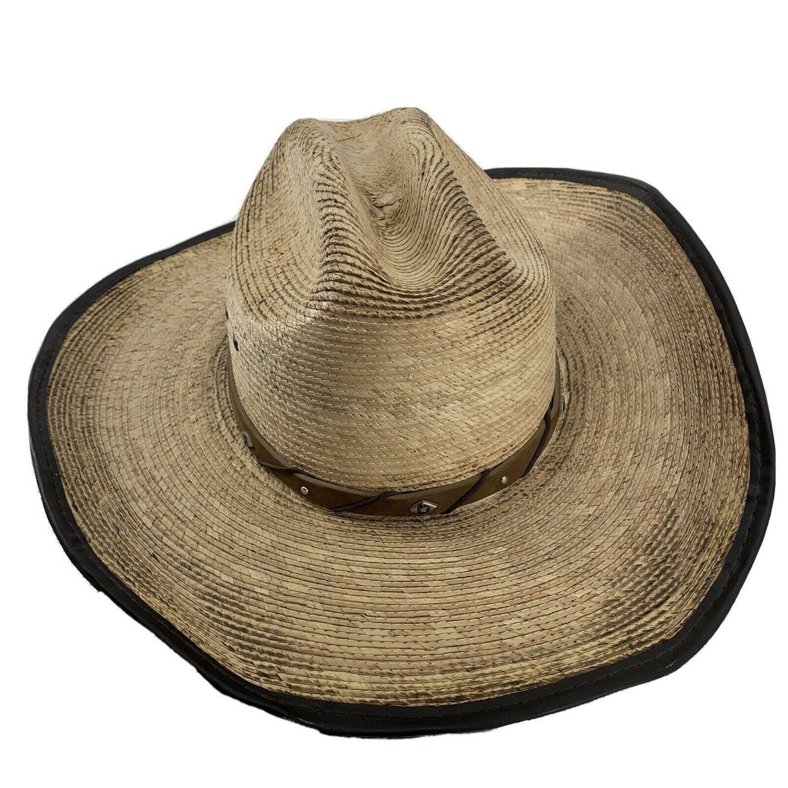 Justin Western Cowboy Hat Straw 7 1/8