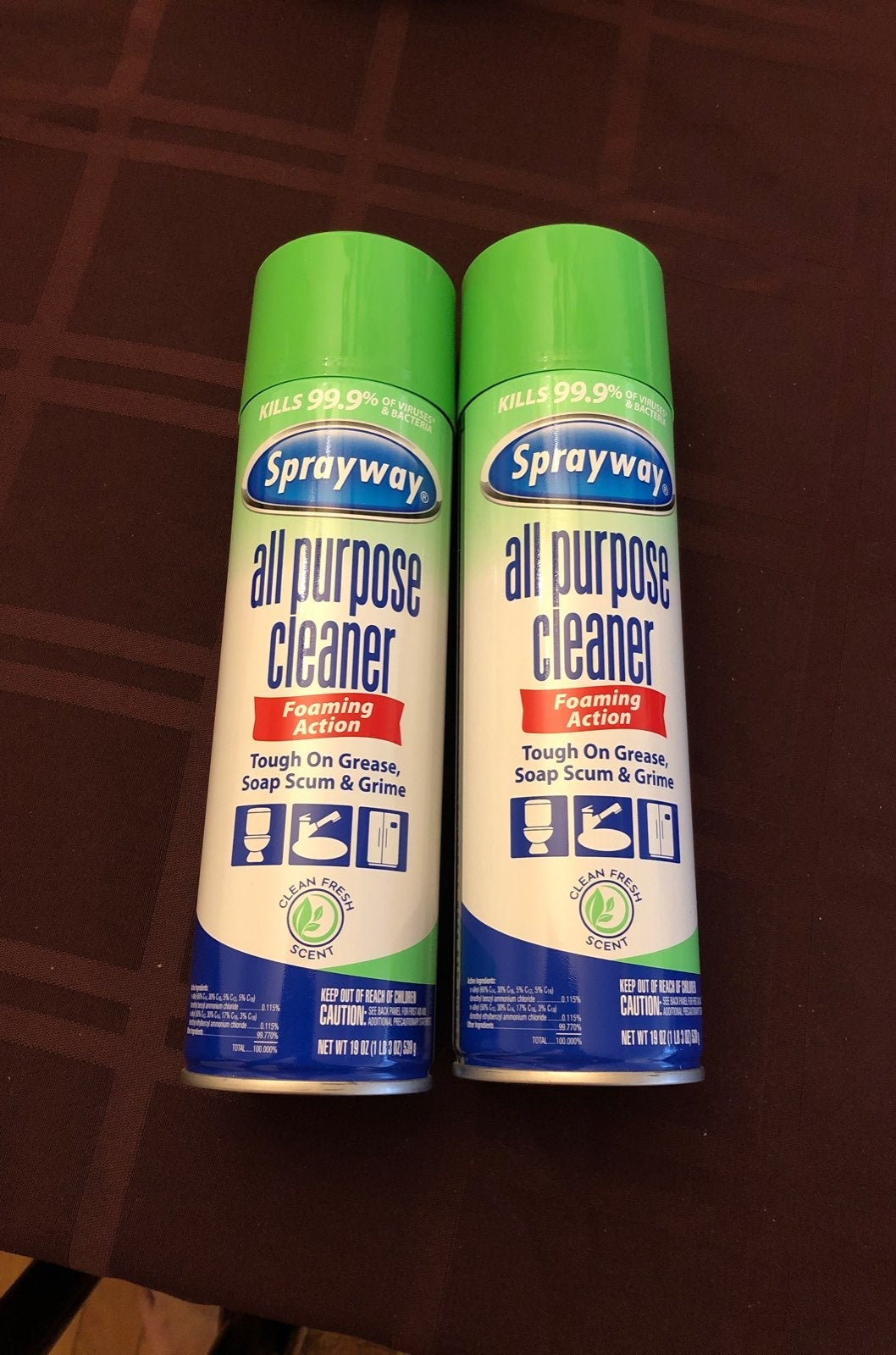 Multi surface cleaner - 2 spray cans - 1