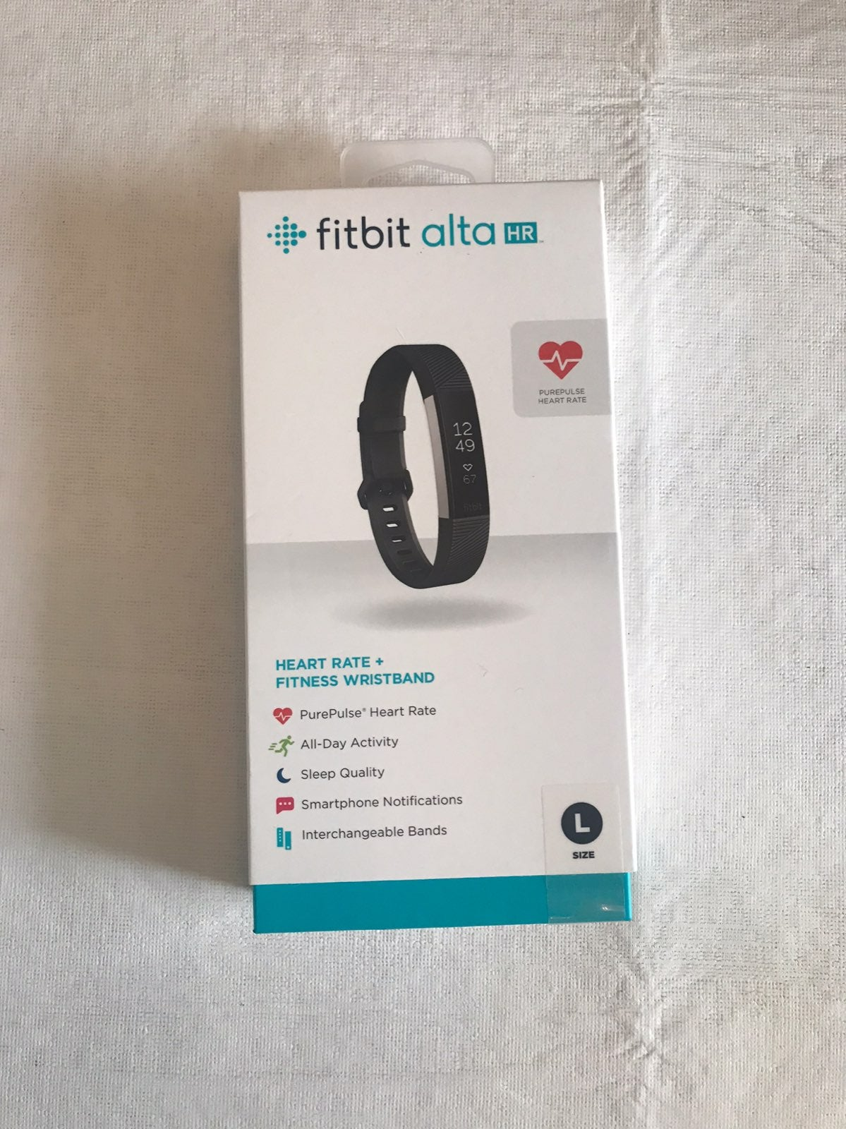 Fitbit Alta HR Large Black Band - NEW