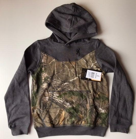 NWT boys Browning hoodie sweatshirt medi