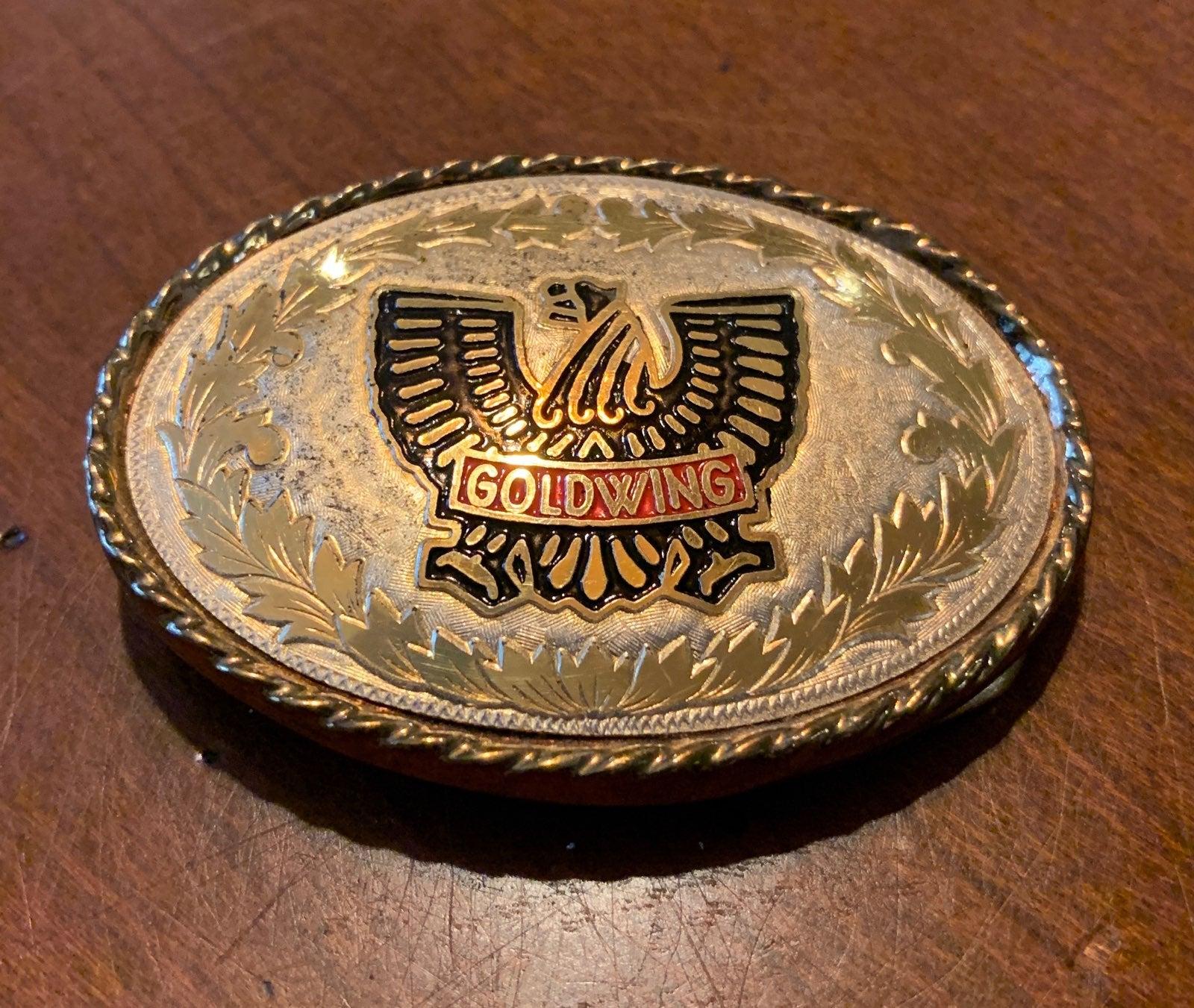 Gold Wing Belt Buckle