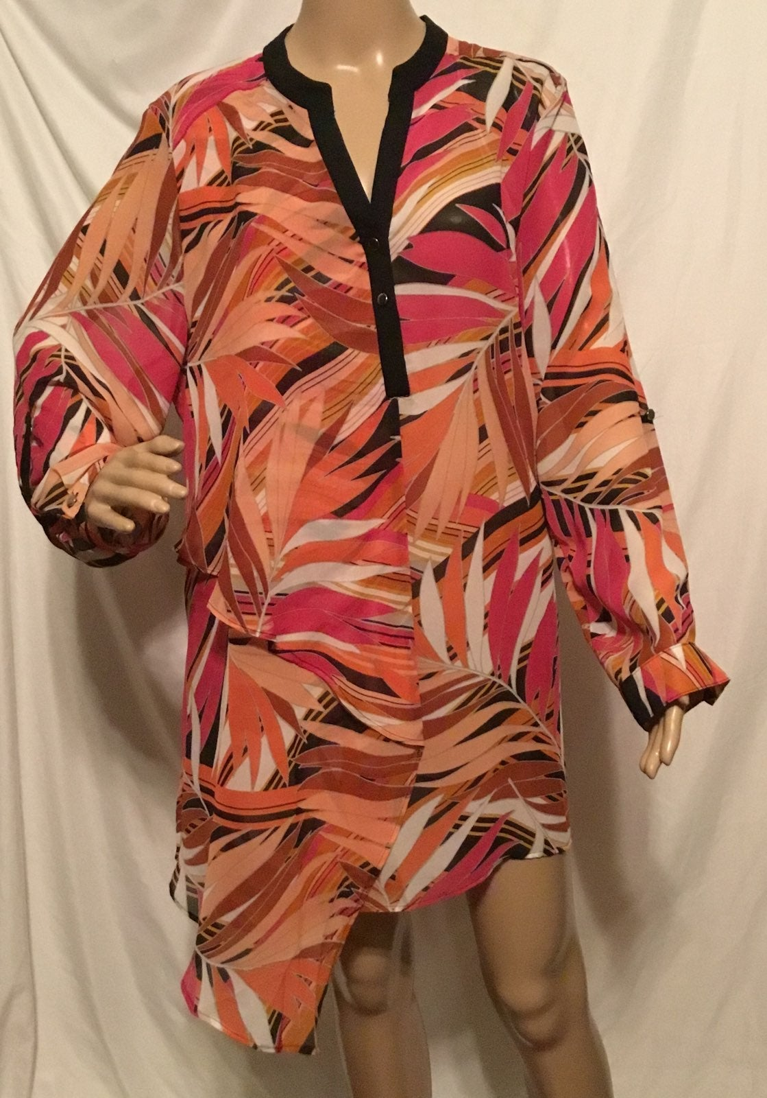 NY COLLECTION PLUS SZ 2X LONG SLEEVES BL