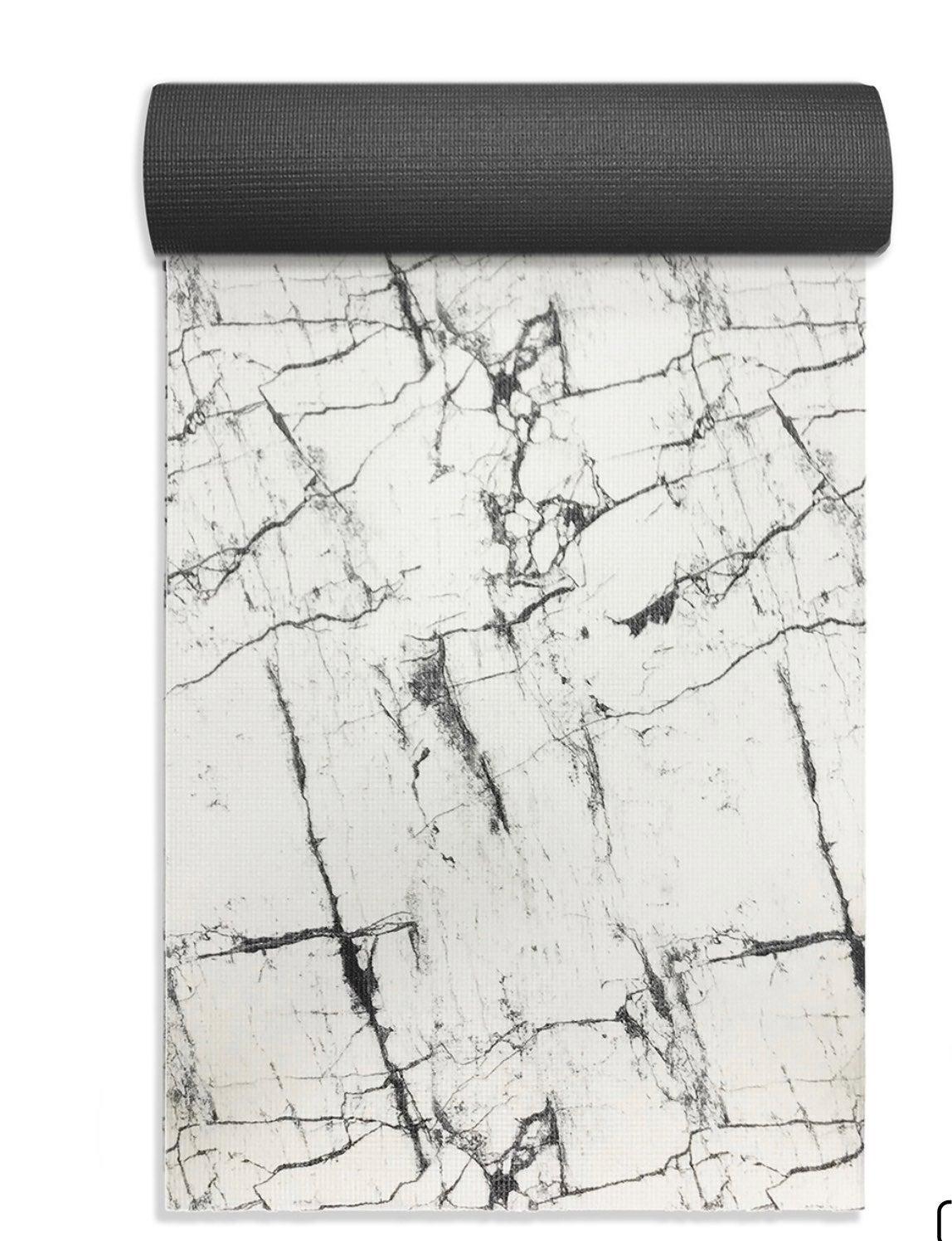 White oak marble yoga mat modern clean