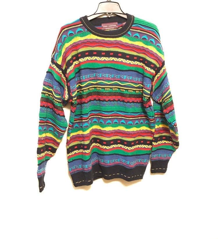 Vintage Biggie Colorful Oversize Sweater