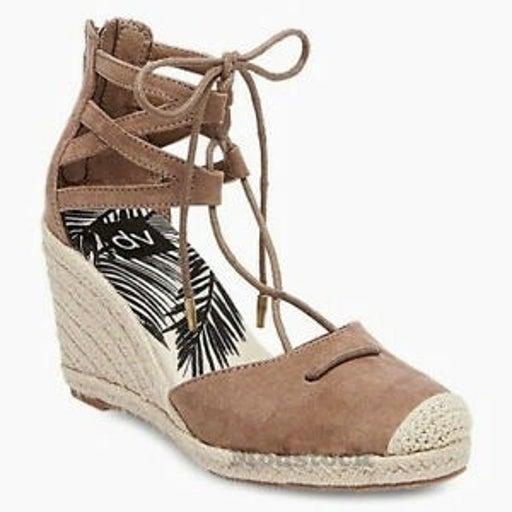 "Dolce Vita ""Monica"" Ghillie Lace-up Espadrille Wedge Sandals Sz 7.5"