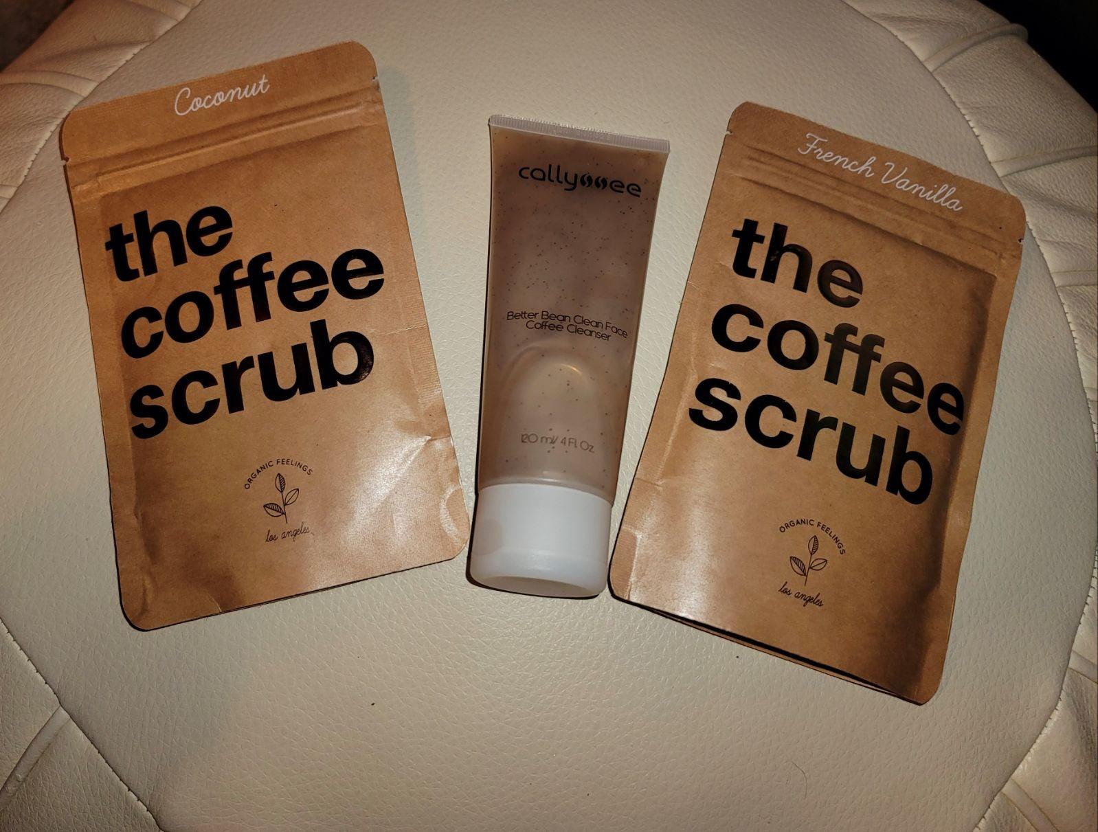 Coffee face wash and body scrub