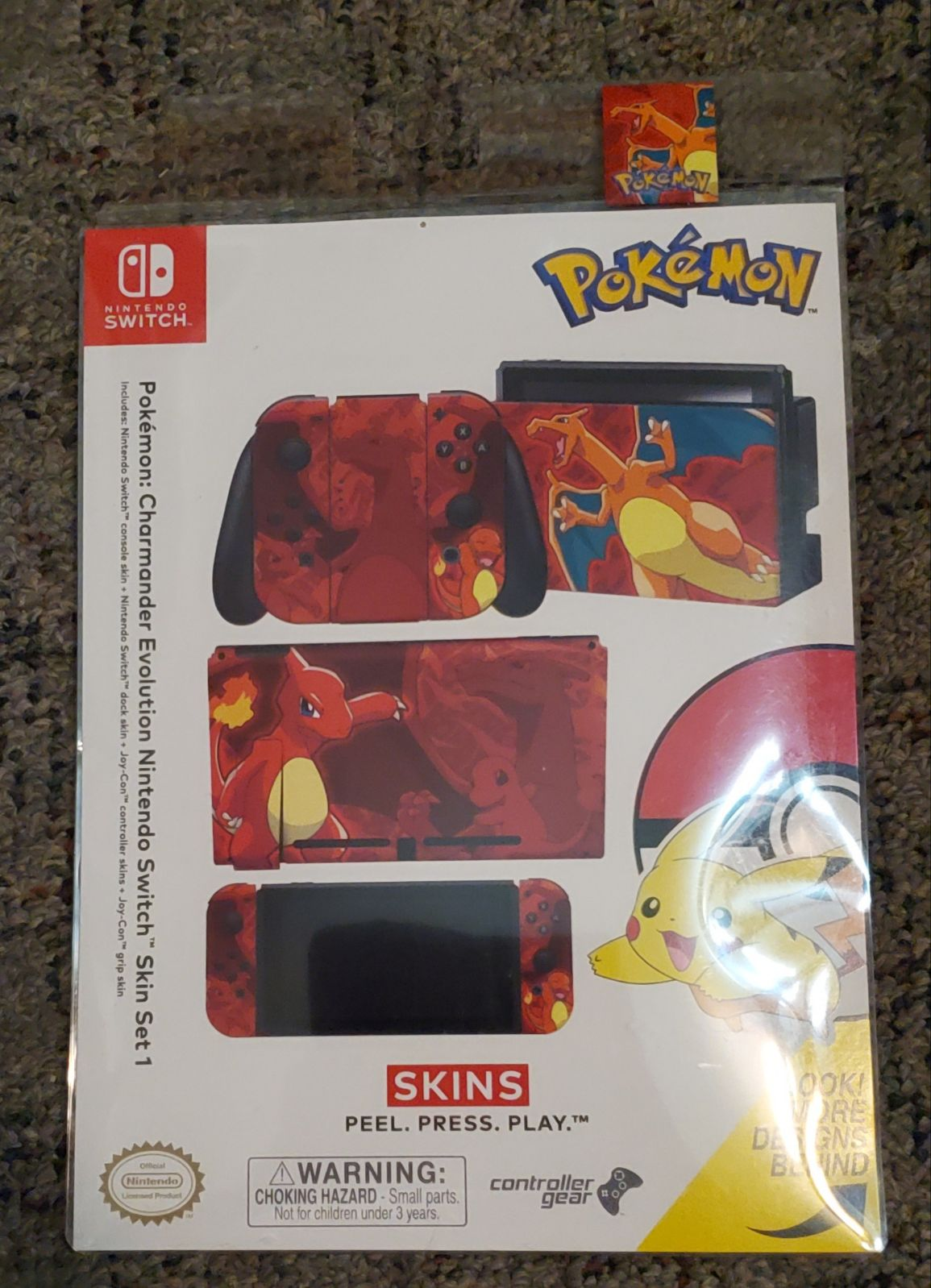 Pokémon Charmander Nintendo Switch Skin