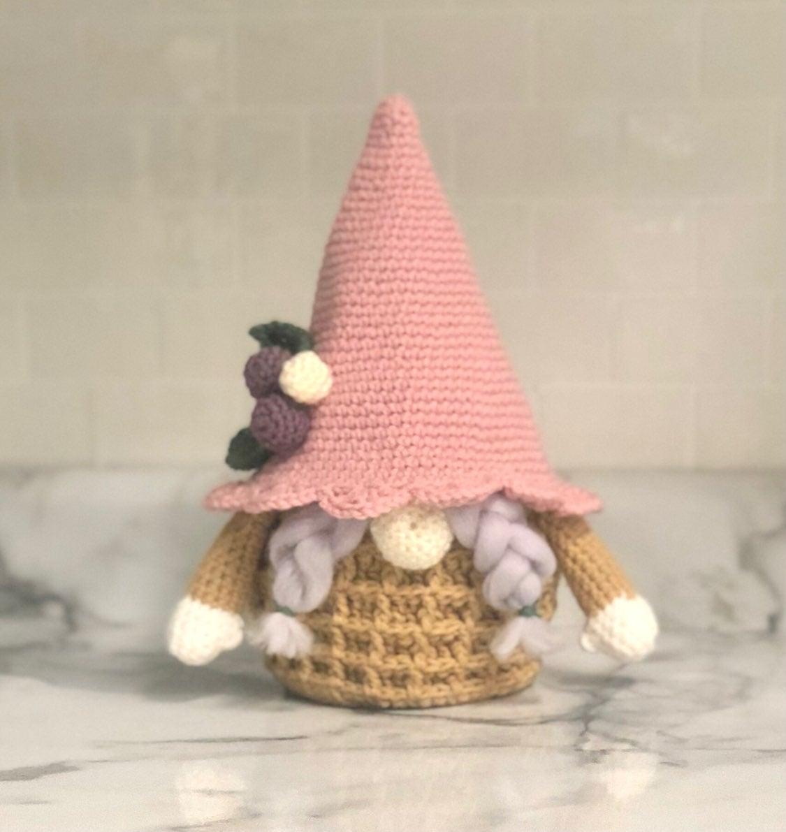 Handmade waffle gnome