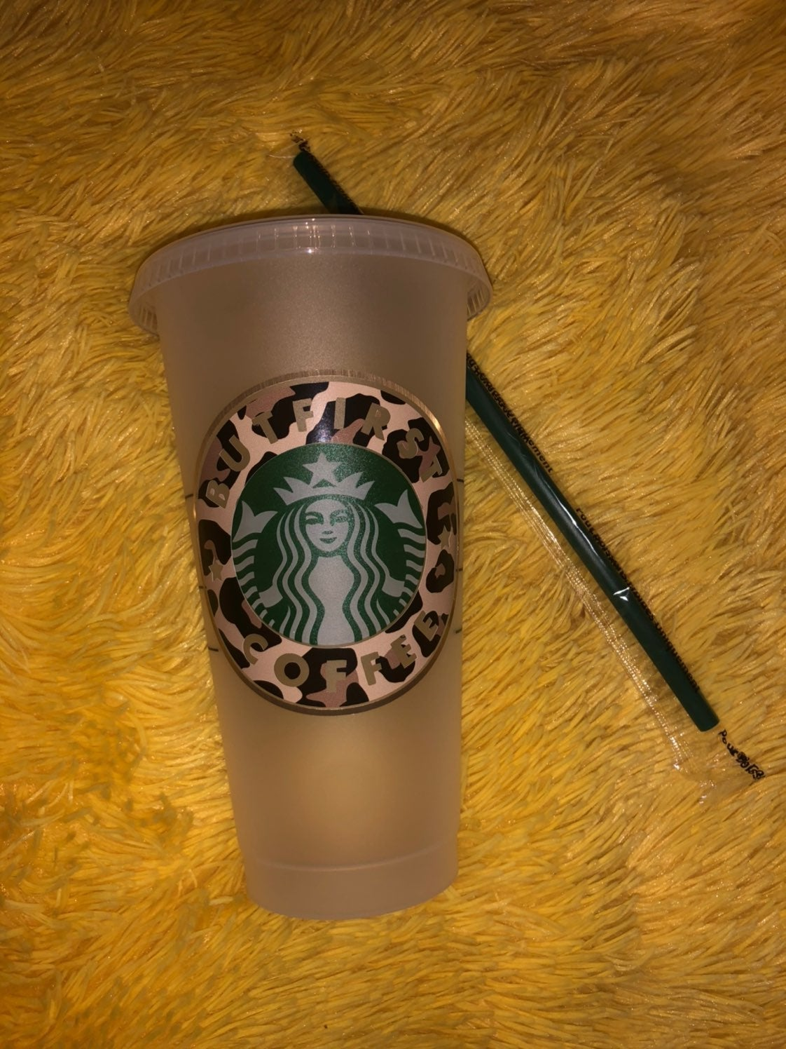 Custom starbucks cold cup