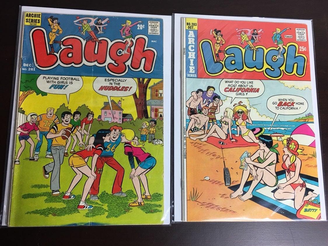 Lot of 2 Vintage Archie Laugh Comics