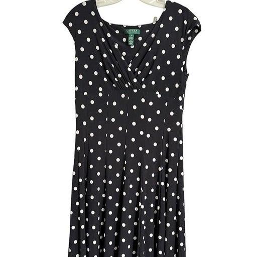 EUC Ralph Lauren Polka Dot Dress - Sz 8